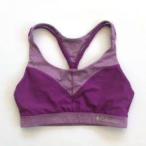 Columbia Purple Magenta Strappy Padded Sports Bra